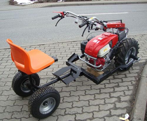 Two Wheel Tractor Attachments : Attachment seat sulky for two wheel tractor km