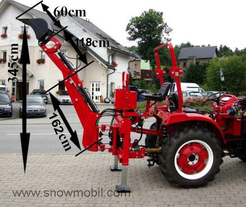 bagger hb25s minibagger anbaubagger heck schaufel klein traktor kat 0 1 ebay. Black Bedroom Furniture Sets. Home Design Ideas