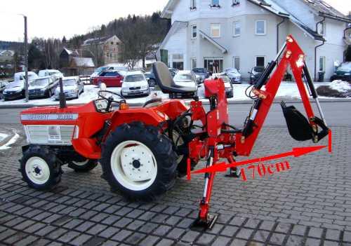 bagger hb20 minibagger anbaubagger heck schaufel klein traktor kat 0 1 ebay. Black Bedroom Furniture Sets. Home Design Ideas