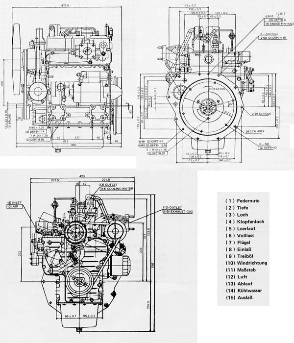 dieselmotor motor kubota d950 21 5 ps 927 ccm bhkw gebr