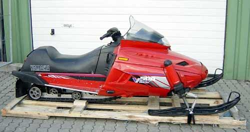 Motorschlitten snowmobile yamaha v max 500 blau gebr for 500 yamaha snowmobile