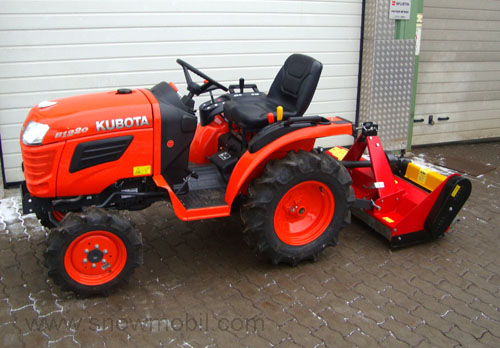 kleintraktor traktor kubota b1220 12 0ps schlegelmulcher. Black Bedroom Furniture Sets. Home Design Ideas