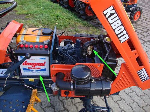 Kubota Tractor Batteries : Compact tractor kubota b with wd used completely