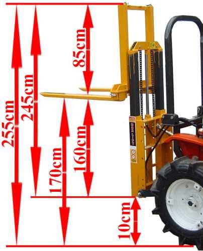 Anbau Gabelstapler Fl120 700kg Heck Stapler Paletten Gabel