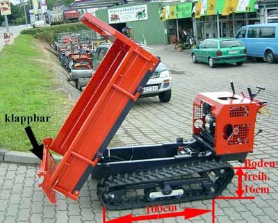 raupentransporter mini dumper muldenkipper motor schubkarre am60 raupen kipper ebay. Black Bedroom Furniture Sets. Home Design Ideas