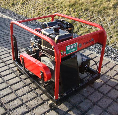 diesel stromerzeuger generator 7 5 kw bausatz bhkw mit kubota dieselmotor d1102 ebay. Black Bedroom Furniture Sets. Home Design Ideas