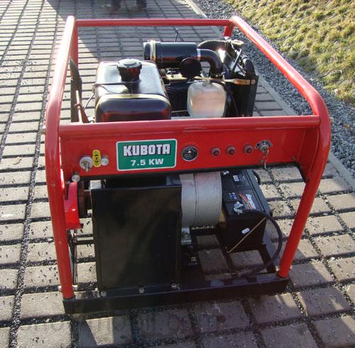 diesel stromerzeuger generator 7 5 kw bausatz bhkw mit kubota dieselmotor d1102. Black Bedroom Furniture Sets. Home Design Ideas