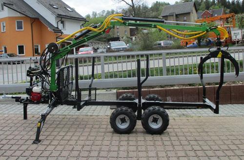 Holztransport-Anhänger