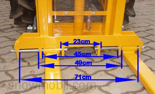 Anbaustapler für Traktor oder Schlepper