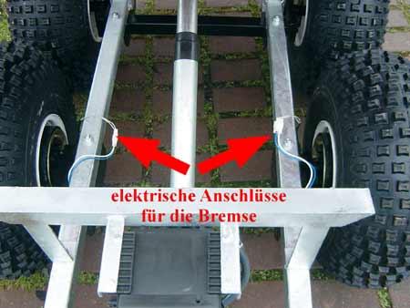 Zweiachs-Anhänger Tandem 500TB mit Bremse für Kleintraktoren Quad ...
