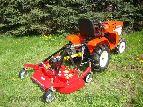 Rotary mower SM120 Mulcher with 3 mulching blades for tractors from