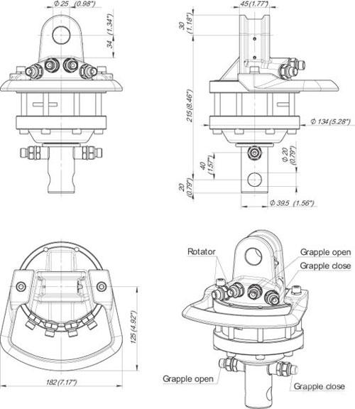 verladezange holzzange holzgreifer r ckezange rotator 1t. Black Bedroom Furniture Sets. Home Design Ideas