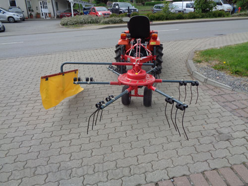 Hay tedder FM210 with windrowing, rotary tedder for tractors