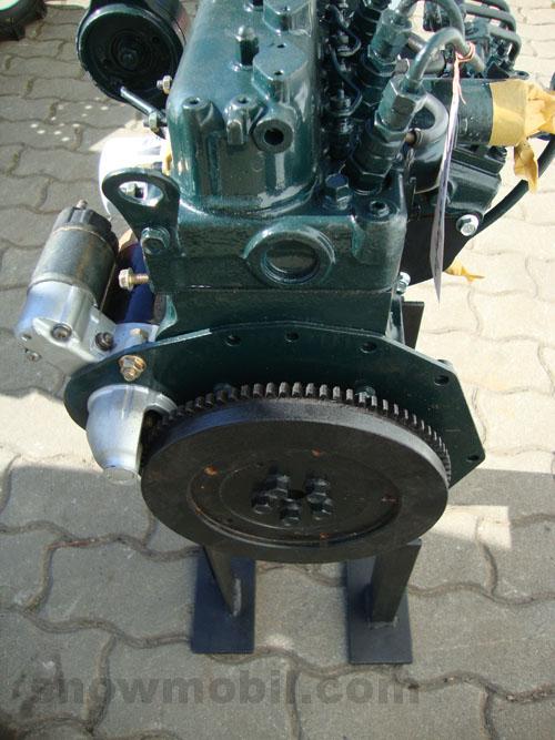 D on Kubota Engine Exhaust Manifold