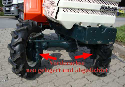 Compact tractor Kubota B1400D with 4WD used, completely
