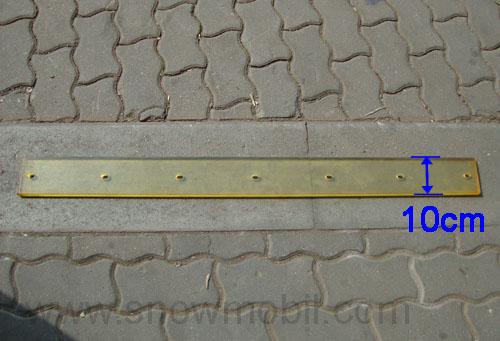 Schneepflug Schürfleiste Gummilippe Gummileiste 1250x150x30 für Schneeschild o