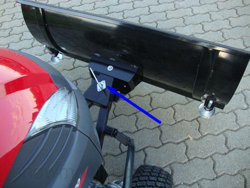schneeschild starr 118cm adapter f r rasentraktor. Black Bedroom Furniture Sets. Home Design Ideas