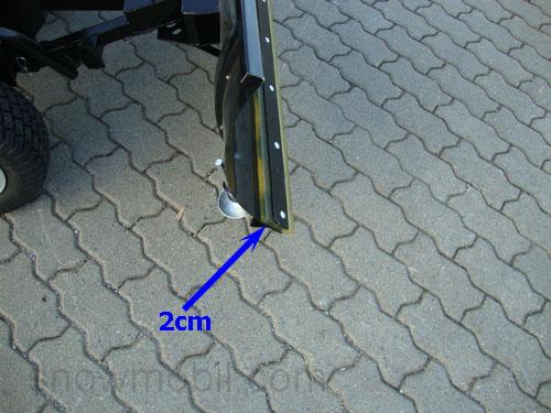 Schneeräumschild starr für Rasentraktor 1,18m 118 cm mit Adapter MTD