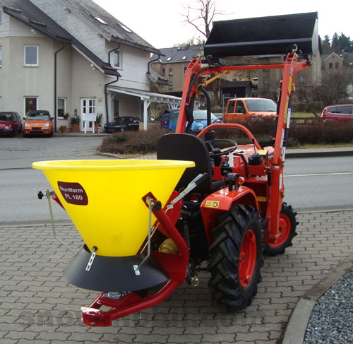 Compact Tractor Seeder : Broadcast spreader nordfarm pl for small tractors seed